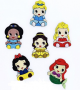 Aplique Princesas PVC - 6 unidades