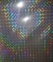 Bopp 3d Holográfico - Quadradinhos - Laminação a Quente - 32cm - 10 metros