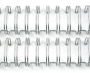 Garra Wire-O Espiral (c/ 4 unidades) 3x1 Encadernação 7/16 A4