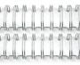Garra Wireo Espiral 5un. 3x1 Encadernação 3/8 P/ 60 Fls A4