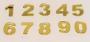 Números em Acrílico com 10 peças - 5cm