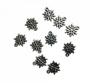 Pingente Metal Floco de Neve c/10 unidades