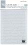 Placa para Relevo 2D Elegance - 107x139mm - Palavras - Toke e Crie
