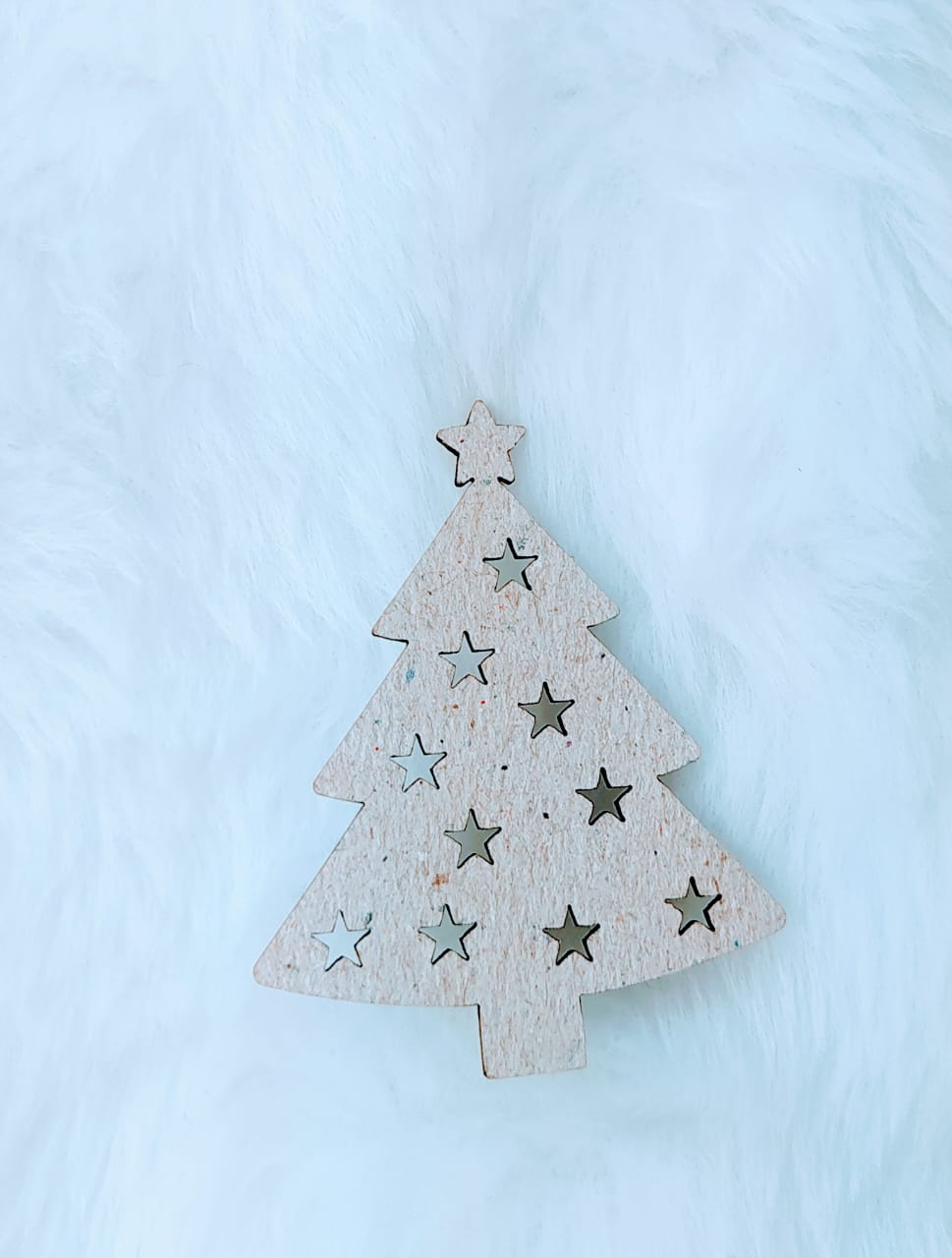 Aplique Árvore de Natal Chipboard - 7cm  c/ 10 peças