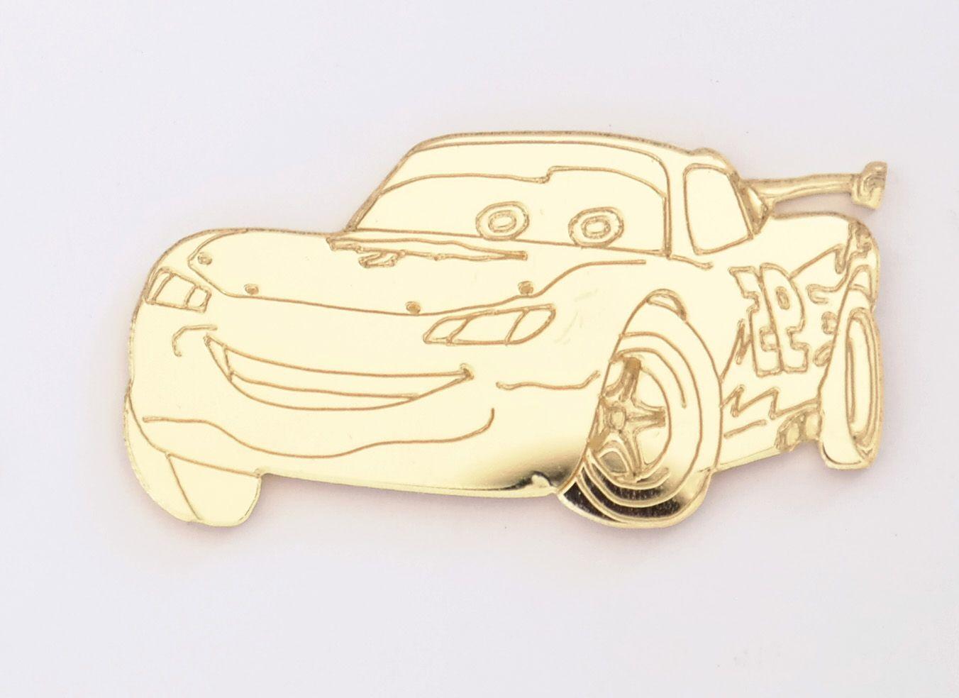 Aplique em acrílico espelhado - Carros 01 - 5cm - 10 peças