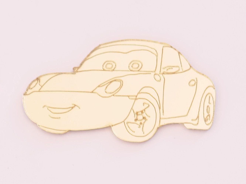 Aplique em acrílico espelhado - Carros 02 - 5cm - 10 peças