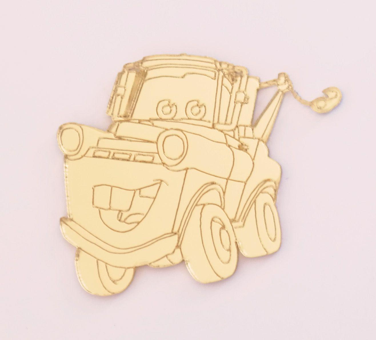 Aplique em acrílico espelhado - Carros 03 - 5cm - 10 peças
