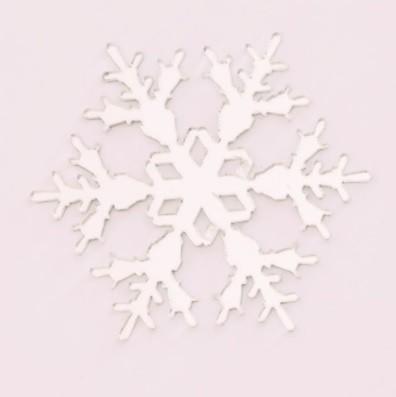 Aplique em acrílico espelhado - Floco de Neve 01 - 7cm - 10 peças - Natal