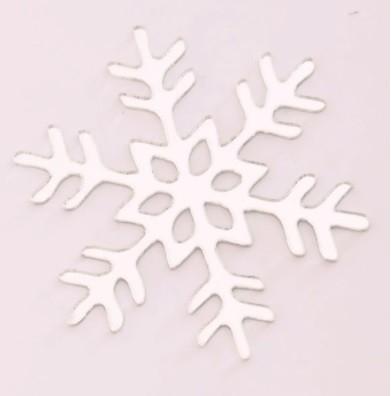 Aplique em acrílico espelhado - Floco de Neve 02 - 7cm - 10 peças - Natal