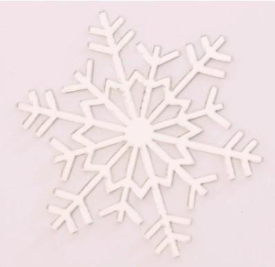 Aplique em acrílico espelhado - Floco de Neve 03 - 7cm - 10 peças - Natal