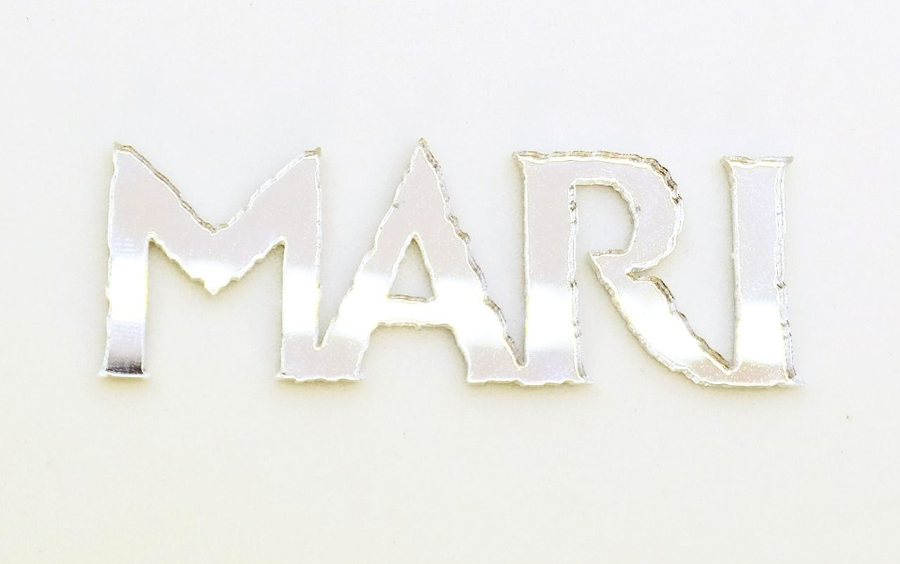 Aplique em acrílico espelhado - Frozen Nome Personalizado - 5cm - 10 peças