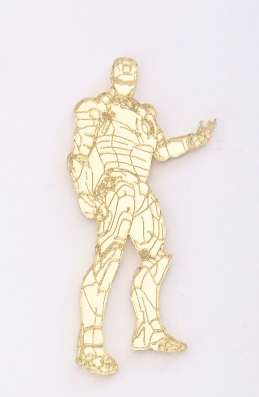 Aplique em acrílico espelhado - Homem de Ferro - 7cm - 10 peças