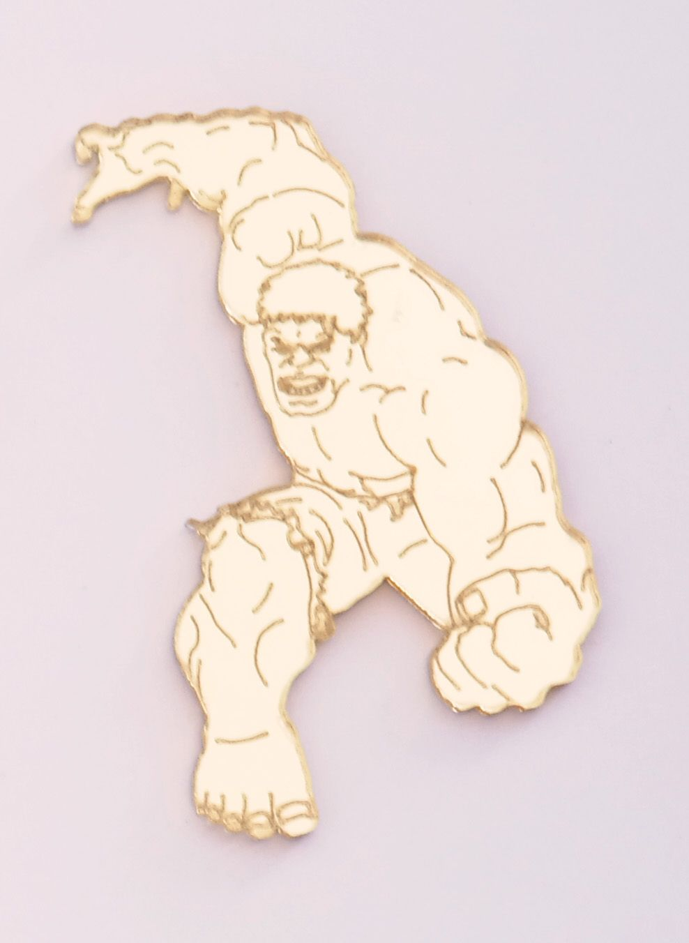 Aplique em acrílico espelhado - Hulk - 7cm - 10 peças
