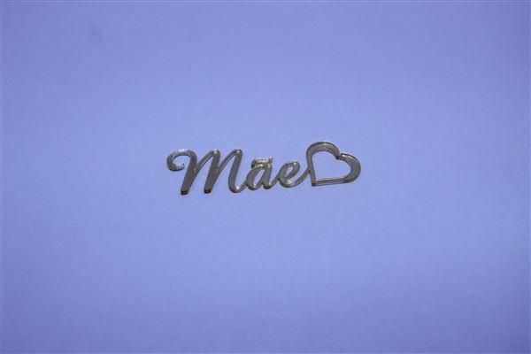 Aplique em acrílico espelhado - Mãe 02 - 5cm - 10 peças - Dia das Mães
