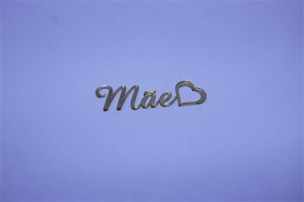 Aplique em acrílico espelhado - Mãe 02 - 7cm - 10 peças - Dia das Mães