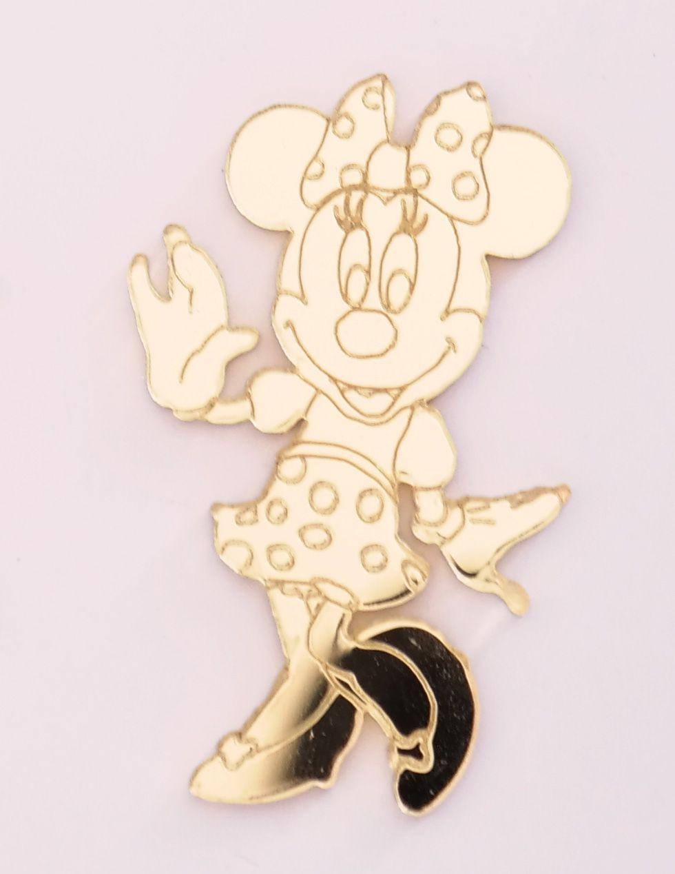 Aplique em acrílico espelhado - Minnie - 7cm - 10 peças
