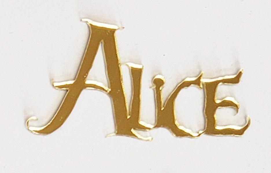 Aplique em acrílico espelhado - Nome Alice - 10 peças - Alice