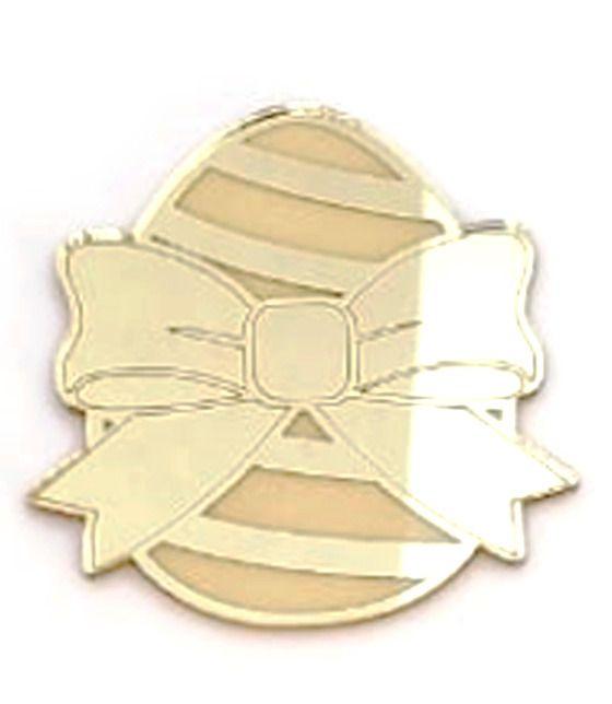 Aplique em acrílico espelhado - Ovo 02 - 7cm - 10 peças - Páscoa