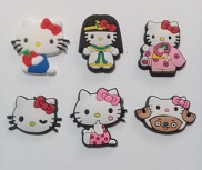 Aplique Hello Kitty PVC - 6 unidades