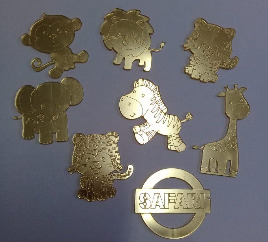 Apliques em Acrílico - SAFARI - 10 peças