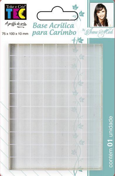 Base Acrílica para Carimbo - 75x100x10mm - By Ivana Madi - Toke e Crie