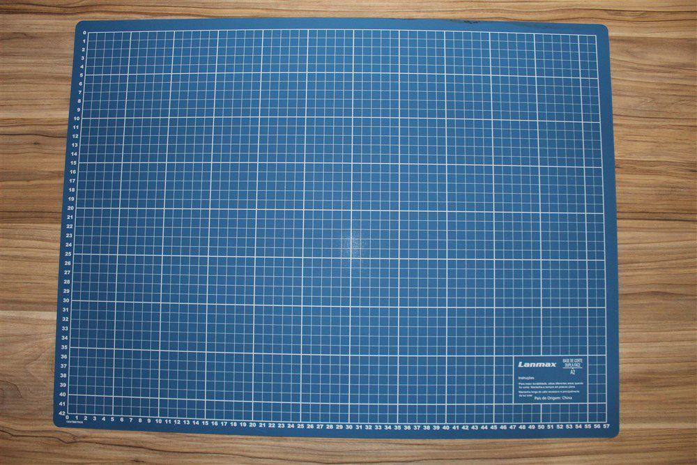 Base para Corte Dupla Face - A2 - 45x60cm - Azul - Lanmax