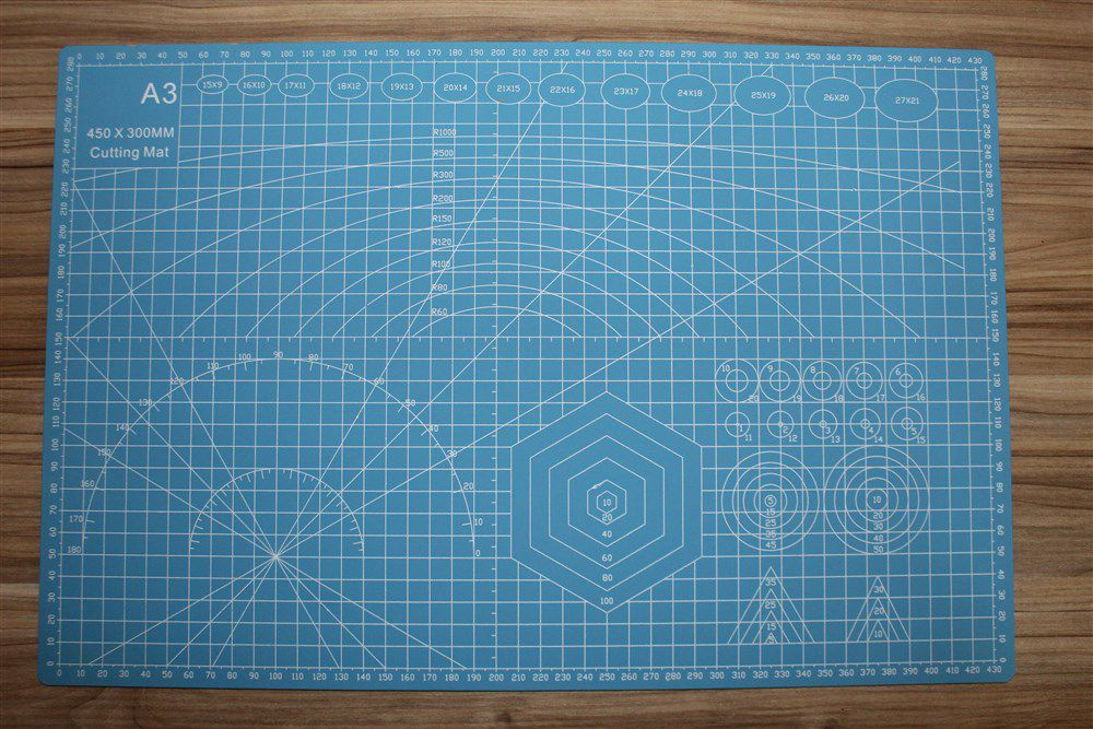 Base para Corte Dupla Face - A3 - 30x45cm - Azul - Lanmax