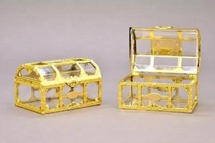 Baú Acrílico - Dourado - 5 unidades
