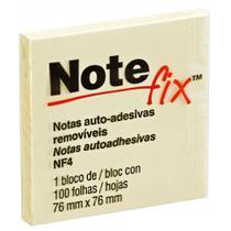 Bloco de recado autoadesivo NOTEFIX 653 76MMX76MM C/100 FOLHAS AMARELO - 3M