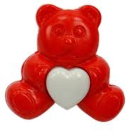 Botão urso KR 6028 25UN