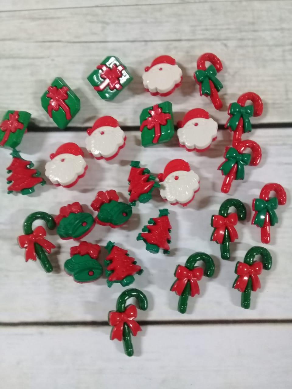Botões de Natal - Sortidos - 25 unidades