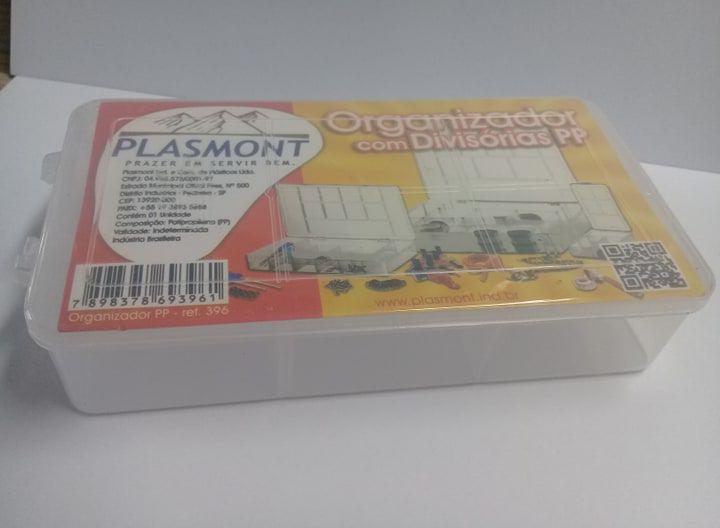 Caixa Organizador Plastico PP com 5 Divisorias 16 x 9 x 3,5 cm