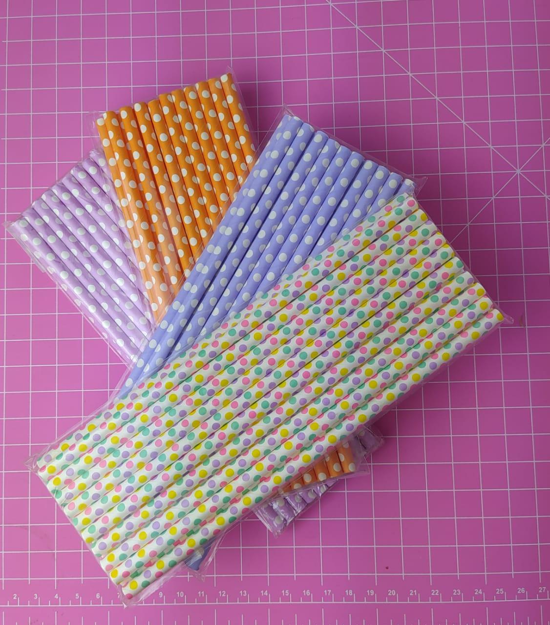 Canudo de papel de poá c/ 20 unidades