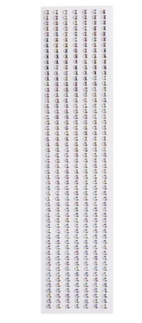 Cartela Adesiva Irizado-4 4mm 385UN