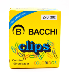 CLIPS COLORIDO REF.2/0 C/100 UNIDADES 13545 - BACCHI