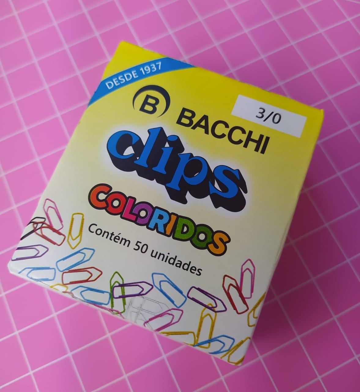 CLIPS COLORIDO REF.3/0 C/50 UNIDADES 13552 - BACCHI