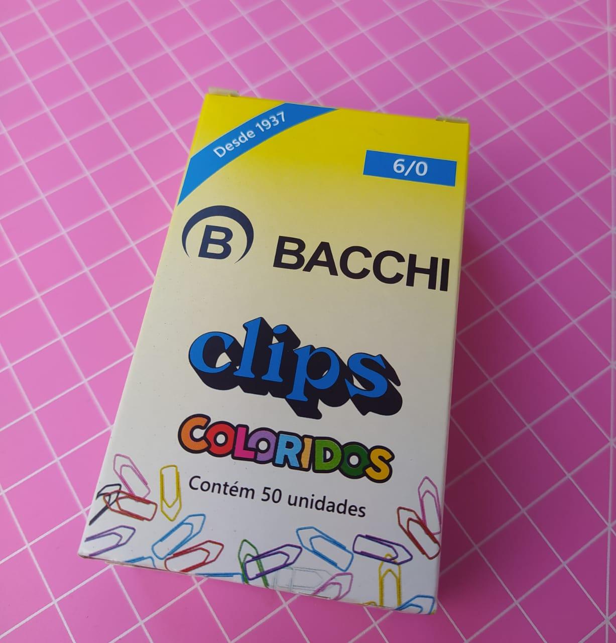 CLIPS COLORIDO REF.6/0 C/50 UNIDADES 13576 - BACCHI