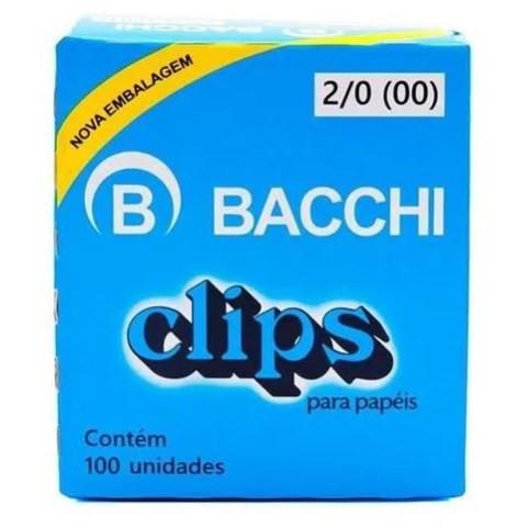 CLIPS GALVENIZADO AÇO 2/0 C/100 UNIDADES - 08060 - BACCHI