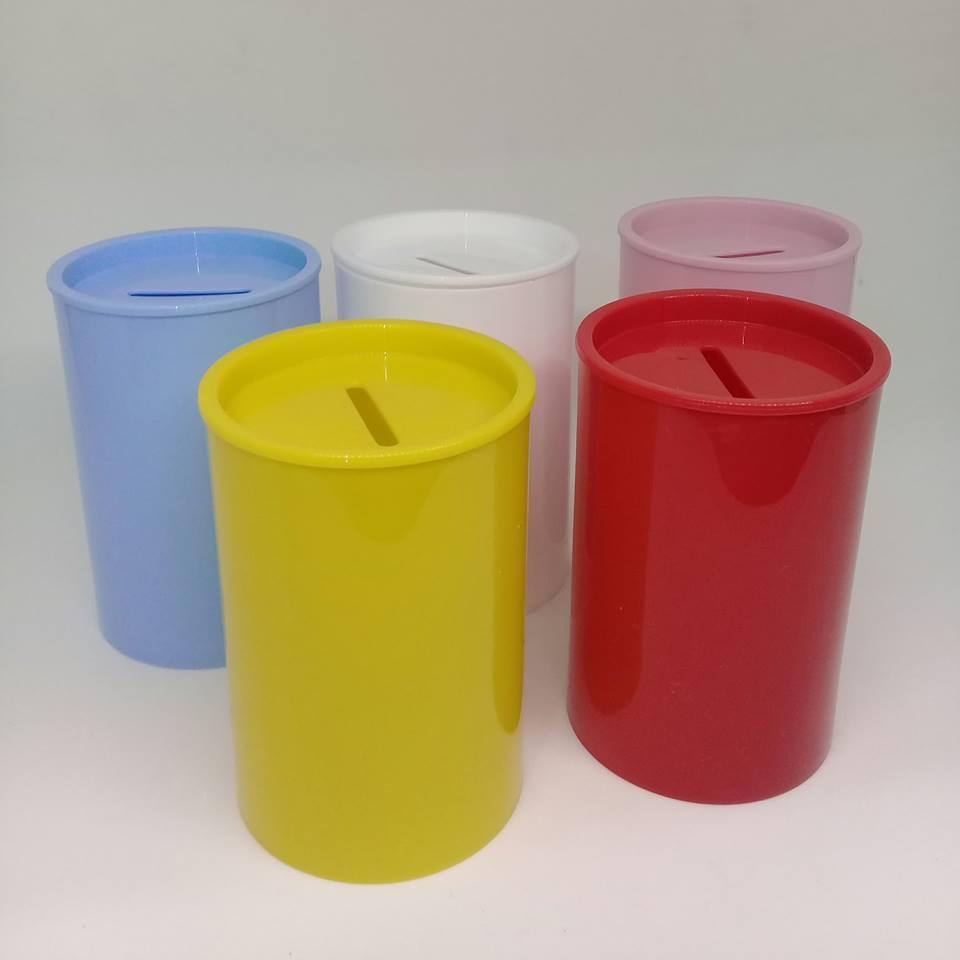 Cofrinho plástico 5,4x8,1cm - c/ 50 unidades