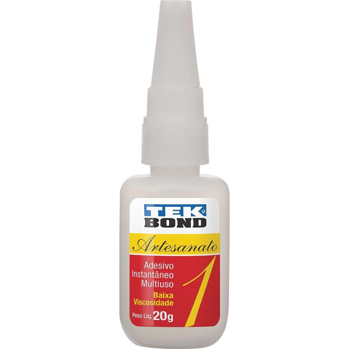 Cola adesivo instantâneo - Artesanado 1 - 20g - Tekbond