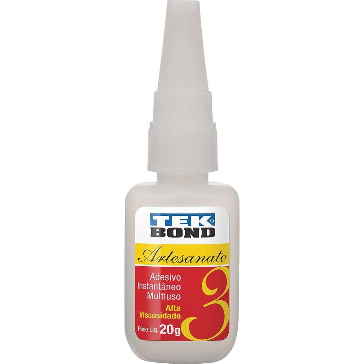 Cola adesivo instantâneo - Artesanado 3 - 20g - Tekbond