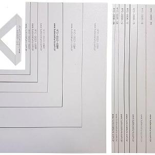 41ca76355 Kit Réguas e Esquadros Gabarito Cartonagem Encadernação Fio De Cabelo