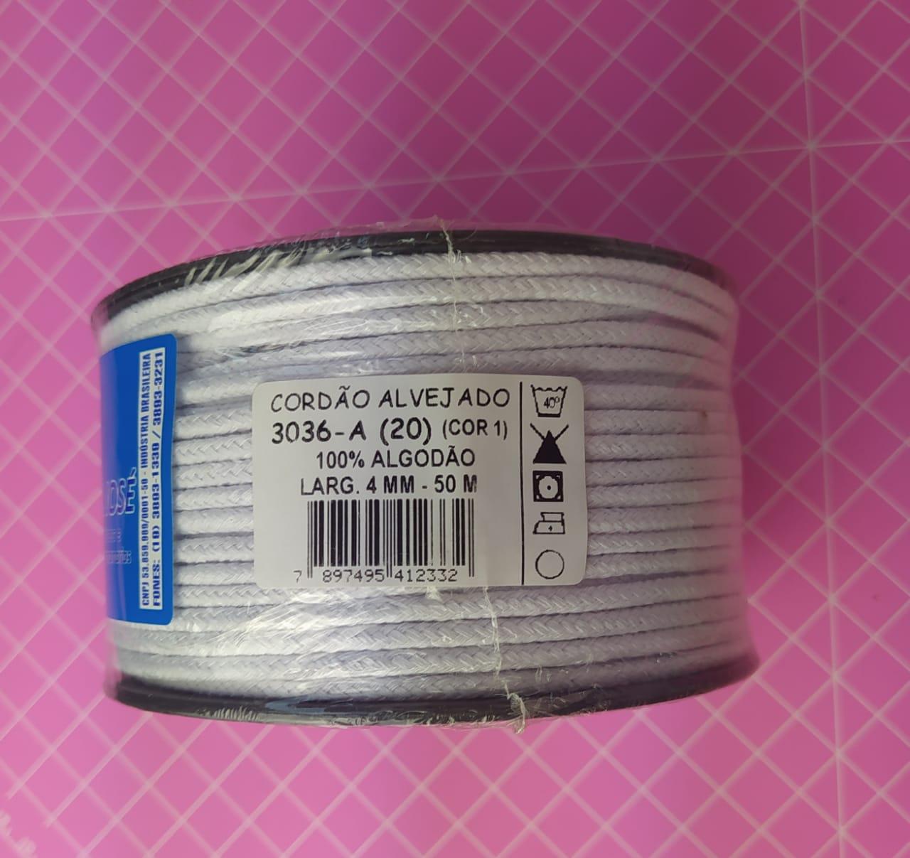 Cordão de algodão São José - Larg. 4mm c/ 50m