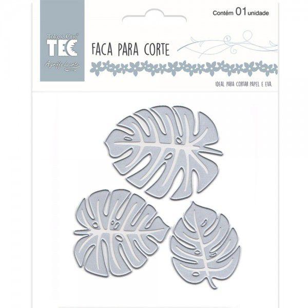 Faca Para Corte Elegance - Extra Grande - Folha Tropical - Toke e Crie