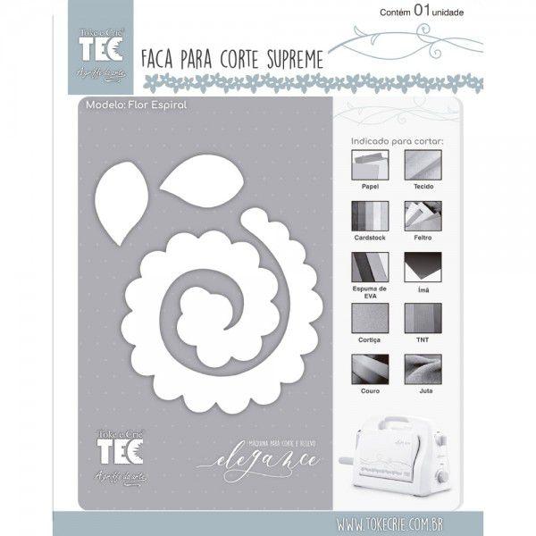 Faca para Corte Supreme - Flor Espiral - Toke e Crie