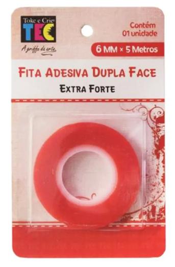 Fita Adesiva Dupla Face Extra Forte Toke e Crie 6mm x 5 metros