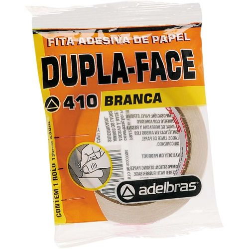 Fita Dupla Face Flow-Pack - 12mm x 30m - Adelbras