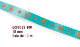 Fita Estampada Progresso Cetim 15mm - ECF003S 106 10mts