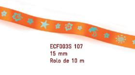 Fita Estampada Progresso Cetim 15mm - ECF003S 107 10mts