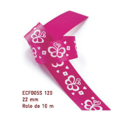 Fita Estampada Progresso Cetim 22mm - ECF005S 120 10mts